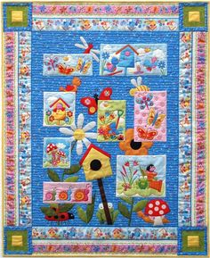 *free* pattern: Bug-a-Boo quilt by Hilary Gooding, in our free pattern collection for bird houses
