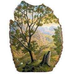 Beautiful Paintings on Fallen Tree Logs Mirror Their Natural Origins - My Modern Met