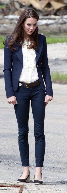 blazer feminino e jeans kate-middleton