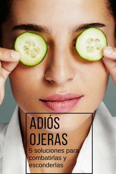 Cinco soluciones y remedios caseros para eliminar y disminuir las ojeras y los círculos negros bajo los ojos.