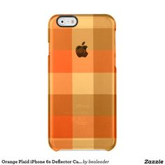 Orange Plaid iPhone 6s Deflector Case Uncommon Clearly™ Deflector iPhone 6 Case