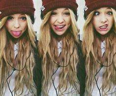 cute hair and nice beanie