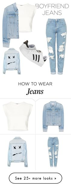 """""""Jeans"""" by cam70powers on Polyvore featuring Topshop, Puma, rag & bone and adidas"""