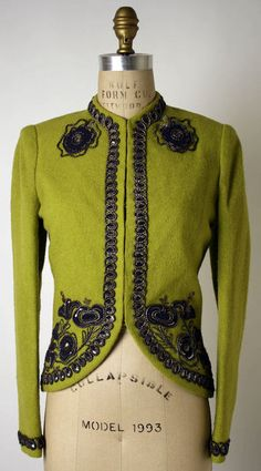 Elsa Schiaparelli jacket ca. 1938 via The Costume Institute of The Metropolitan Museum of Art