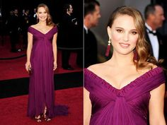 Natalie Portman dressed in purple perfection at the 2011 Academy Awards- Winning Best Actress!