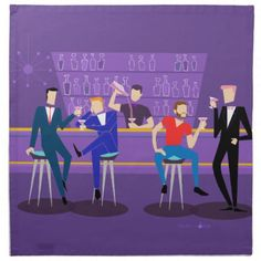 Retro Gay Bar Cloth Napkins