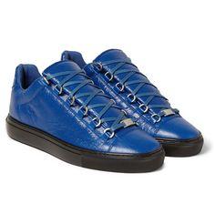 BalenciagaArena Creased-Leather Sneakers