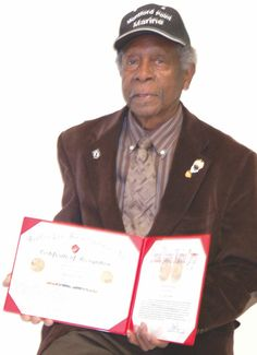 Original Montford Point Marine Henry Jackson was among the first African-Americans to serve in the United States Marine Corps. He was among 500 of his comrades to be awarded a Congressional Gold Medal last June and will be featured in a Black History Month Program Sunday at Cray Chapel CME Church.