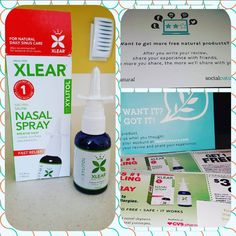 @socialnature @Xlear natural nasal spray...it works! REVIEW:  Unlike most nasal sprays this one didn't make me gag. As we all know, it runs down your throat and this one had a decent taste. It was easy to use. Just 2 quick pumps in each nostril. It definitely cleared up my nasal congestion from allergies and I like that it wasn't habit forming due to its natural ingredients. I would recommend and buy in the future. #GotItFree #trynatural #nasalspray #medicine #samples #sample #freebie...