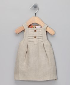 Yo Baby Beige Swing Dress - Infant