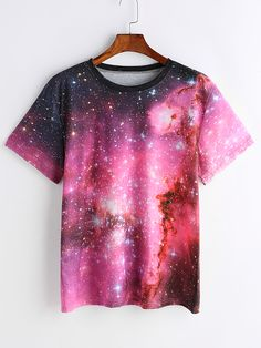 Shop Starry Space Print T-shirt online. SheIn offers Starry Space Print T-shirt & more to fit your fashionable needs.