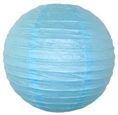 3  Sky Blue Mini Paper Lanterns 10pcs (($))