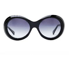 Oliver Goldsmith Audrey Black Sunglasses (8.010 ARS) ❤ liked on Polyvore featuring accessories, eyewear, sunglasses, round sunglasses, rounded sunglasses, oliver goldsmith eyewear, rounded glasses and oliver goldsmith