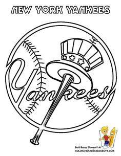 New York Yankees Logo Super Coloring Logos Yankees