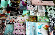 SUPER Great PRICE Designer Fabric scraps  all sizes  by JPATPURSES
