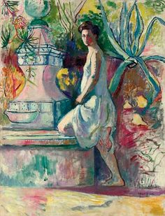 Henri Manguin (1874-1949) - at the Fountain, Villa Demiere Raoul Dufy, Auguste, Modernism, Edvard Munch, Modern Painting, Vincent Van Gogh, Contemporary Artists, Modern Art, André Derain