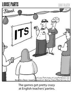 Mystery Fanfare: Cartoon of the Day: English Teacher Party Games