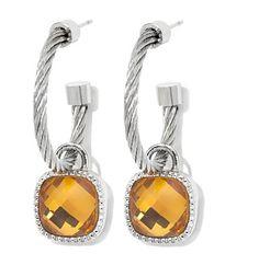 Emma Skye Jewelry Designs Braided Rope Crystal Stainless Steel Earrings. Item 356-959 on HSN.com.