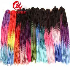6pack Synthetic Faux Locs Crochet Dread Locks Synthetic Marley Twist Braid Hair #AOSOME #Dreadlocks
