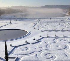 версальский парк зимой