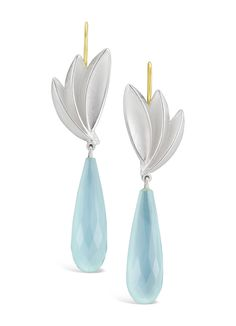 Stone Earrings, Drop Earrings, Baubles And Beads, Jewelry Art, Aqua, Gems, Jewels, Bird, Sterling Silver