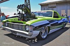 EVILXA #Ford #Falcon , green and mean Aussie Muscle Cars, American Muscle Cars, Custom Classic Cars, Custom Cars, My Dream Car, Dream Cars, Mustang, Ford Girl, Jeep Mods