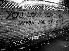 Black and white pictures  | beautiful, black and white, cute, smile, wall - inspiring picture on ...