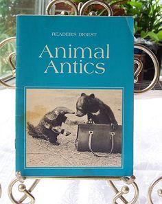Readers Digest Animal Antics Booklet Vintage by SierrasTreasure