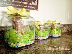 Chocolate bunnies in a jar