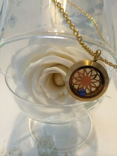 Daisy coin plus birth stone,the perfect gift for any lady.