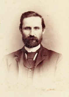 Victorian Antique Photograph Cabinet Card  Bearded Gentleman in  Period Attire