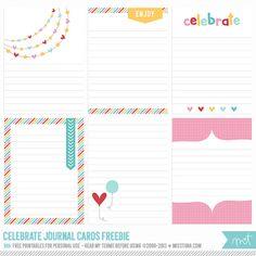Celebrate Project Life Journal Card Freebie - [ One Velvet Morning ]