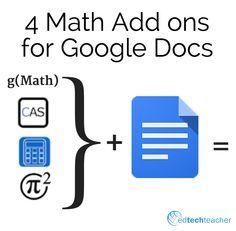 4 Math Add ons for Google Docs http://feeds.feedblitz.com/~/122800240/0/freetech4teachers~Math-Add-ons-for-Google-Docs.html