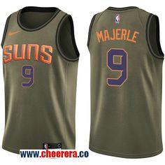 8cf4cde22 Men s Nike Phoenix Suns  9 Dan Majerle Green Salute to Service NBA Swingman  Jersey Nba