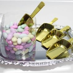 Firefly Imports Small Plastic Candy Scoops Small325Inch Gold 12Pack ** You can get additional details at the image link.