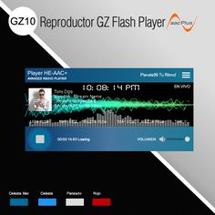 Los reproductores GZ10 constan de un solo archivo #Flash #Player, no traen fichero .xml Varios Colores. Diseño by #agustin, ideal para APP #Facebook, #Xat, #Pagina #web, entre otros. www.surdatanet.net - www.moqueguahost.com - www.surdatacenter.com
