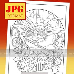 Probably my from Magical Season available at my Etsy (jannafairyart) . Coloring Book, Adult Coloring, Christmas Colors, Stocking Stuffers, Line Art, Fairies, Illustrations, Seasons, Books
