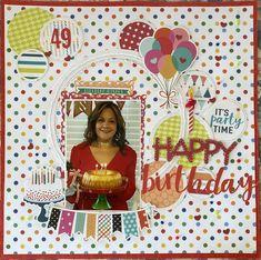 Birthday Scrapbook Layouts, Scrapbook Page Layouts, Scrapbook Pages, Provo Craft, Image Layout, Layout Inspiration, Happy Day, Scrapbooks, Birthdays