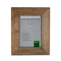 Bilderrahmen, 13x18cm, braun, braun