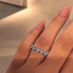 heart Diamond Alternating Heart Eternity Band Ring Gold Over Eternity Ring Diamond, Diamond Heart, Eternity Bands, Solitaire Diamond, Heart Ring, Cute Jewelry, Jewelry Rings, Jewelry Accessories, The Bling Ring
