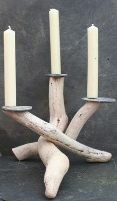 Driftwood Candle holder,Driftwood Candelabra,Driftwood candle stand,Table centre £35.00