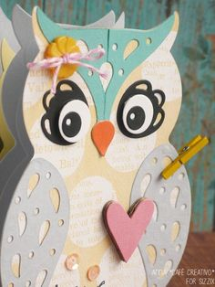 Sizzix Thinlits Die - Card Owl Label Fold-a-Long
