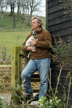 Martin with the latest addition to the Clunes clan, Jim. Photo Mike Alsford. Dorset Magazine June 7, 2011