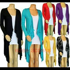 Lightweight Fly away cardigan coverup long sleeves *Retails new without tags. Look stunning in this sexy stretchy Hi lo Lightweight Tunic cover up Cardigan. LIGHTWEIGHT THIN Trendy high low hem. Stretchy fabric. fly away Long Sleevs  Black (1XL ) sold out  Purple  (1XL )  Red ( sold out  )   **PLEASE COMMENT ON THE COLOR NEEDED.   *PRICE IS FIRM UNLESS BUNDLED Boutique  Sweaters Cardigans