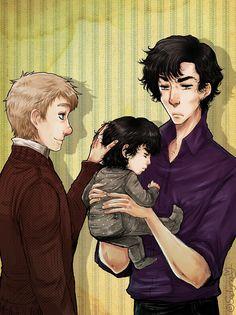 John & Sherlock's baby.