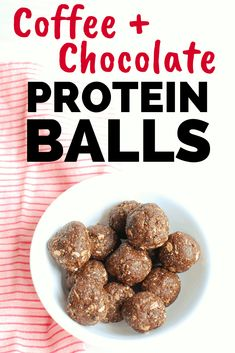 Looking for energy ball recipes? Try these coffee chocolate protein balls! You'll love these healthy energy balls with 5 grams of protein each. Yummy Healthy Snacks, Protein Snacks, Protein Desserts, Protein Muffins, Protein Cookies, Healthy Recipes, Snacks Recipes, Protein Recipes, Healthy Breakfasts