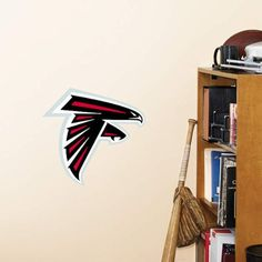NFL Atlanta Falcons Logo Fathead Wall Decal 15 x 12inches >>> Details can be found by clicking on the image.