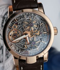 Every man should own an intricate watch such as this Armin Strom One Week Skeleton Watch. Why? Great conversation piece, which women will compliment