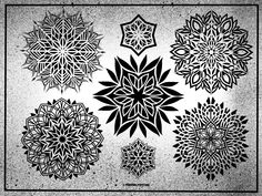 Geometric Drawing, Geometric Mandala, Geometric Flower, Mandala Dots, Mandala Pattern, Mandala Sketch, Mandala Tattoo Design, Mini Tattoos, Body Art Tattoos