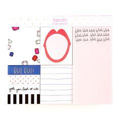 sticky note set - blah blah